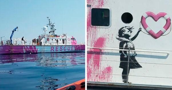 The Banksy Rescue Captain